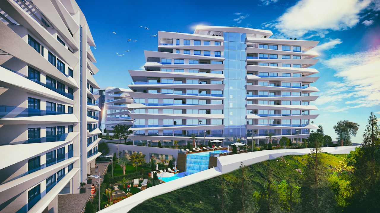 2 bedroom apartment in Zeytinlik